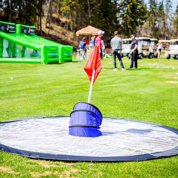 BirdieBall Hoops & Birdie Targets - Golf Events - Corporate Events - Steadfast Rentals - Red Deer, AB