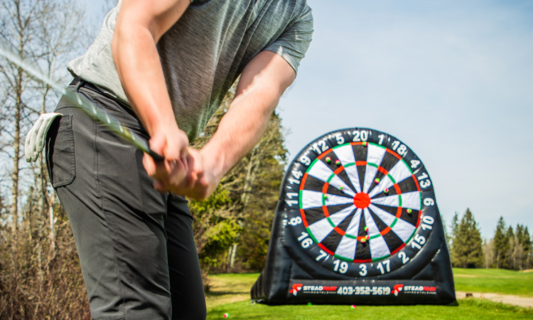 Inflatable Dart Board - Golf Events - Corporate Events - Steadfast Rentals - Red Deer, AB