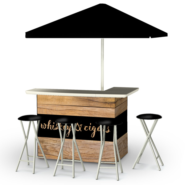 L-Shaped Portable Serving Bars - Golf Events - Corporate Events - Steadfast Rentals - Red Deer, AB